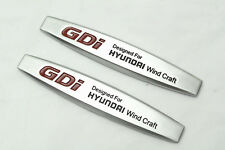 2Pcs For Hyundai GDi Metal Auto Front Side Fender Silvery Sticker Badge Emblems