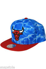 New NBA Mitchell & Ness Chicago Bulls Snapback Surf Camo Blue Hat