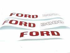 BONNET DECAL SET FITS FORD 3000 PRE FORCE TRACTORS. NEW.