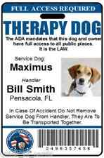 Therapy Dog ID Badge Service Dog ID Card ADA working Dog assistance pet tag 27