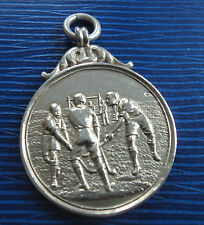 Early Sterling Silver Fob Medal 1911 - Hockey / Shinty - not engraved