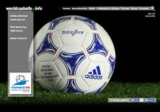 The official ball of the 1998 FIFA World Cup in France: ADIDAS TRICOLORE