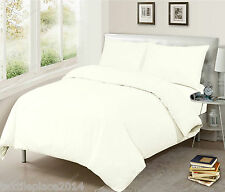 100% EGYPTIAN COTTON DUVET QUILT COVER BEDDING SET SINGLE DOUBLE KING SIZE