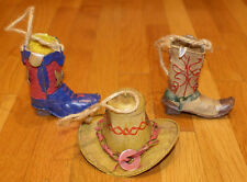 Cowboy Western Cowboy Hat Boots Christmas Ornaments - Collectible Unique Gift