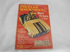 Old Vtg October 1970 POPULAR MECHANICS Magazine MORE '71 CARS IN COLOR