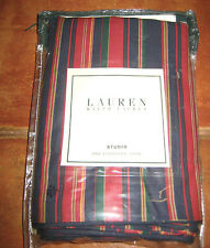 Lauren Ralph Lauren STUDIO One European King Pillow Sham Stripes Wine Navy New