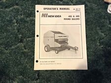 986809 - Is A New Original Operators Manual For A New Idea 485, 486 Round Baler