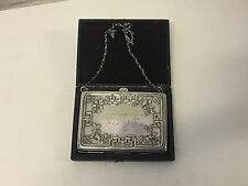 Antique Webster Sterling Silver Card Case Repousse Flowers Dec. Made Into Purse