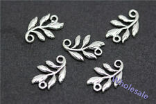 50pcs Tibet Silver Nice two-sided Flower Connectors Necklace Bracelet Findings