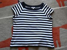 Dressbarn Woman Black & White Stripe Cap Sleeve Cotton Knit Top 2X
