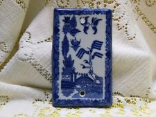 BLUE WILLOW BLANK SWITCH OUTLET COVER ORIENTAL CHINESE JAPANESE ASIAN PAGODA