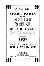 1937 Ariel 4-4G 4F Square four parts book