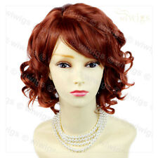 Lovely Short Wig Curly Fox Red Summer Style Skin Top Ladies Wigs from WIWIGS UK