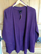 Lane Bryant Long-line Purple Cardigan - US 18/20, UK 20/22 - BNWT