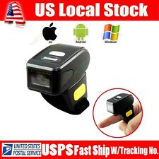 Mini Handheld Bluetooth Ring Finger Barcode Scanner Reader For Android&Apple iOS