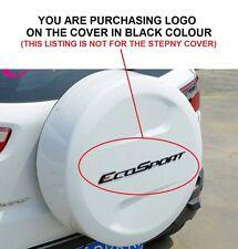 202- FES Ford EcoSport Spare Tyre Tire Cover Sticker Logo Emblem Monogram BLACK