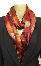Liberty of London Silk Satin Handmade Infinity Scarf, Rose C, Spring/Summer!