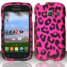 Design Rubberized Hard Case for Samsung Galaxy Ace Style S765C - Pink Leopard