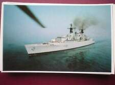 POSTCARD RP HMS BROADSWORD WITH EXOCET & SEAWOLF MISSILES FALKLAND TASK FORCE