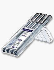 Staedtler Pigment Liner - Fineliner Drawing Pens - 4 pce Pen Set