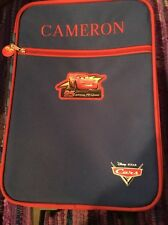 Boys Disney Cars Embroidered Wheeled Red & Blue Suitcase For Cameron