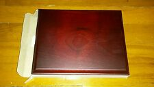 New wood wood grain Mahogany rectangle style award plaque etc nice plaque!