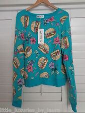 NWT WILDFOX COUTURE Hamburgers Baggy Beach Jumper Sweater Pullover Small S