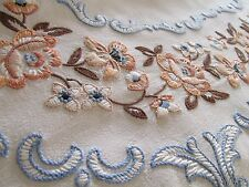 Vintage Hand Embroidered Tablecloth, OUTSTANDING HEAVILY WORK PEICE