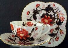 "Wileman trio "" Gilded Japan Oriental Flowers"" Tea Trio"