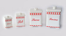 Set of four French Vintage/Retro ceramic kitchen jars by Tendence Table