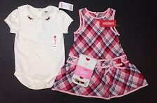 NWT Gymboree New York Girl Puppy School 18-24 Plaid Jumper Dress Bodysuit Tights