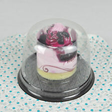 NEW Clear Plastic Cupcake Cake Dome Favor Container Box X25 Wedding Party Shower