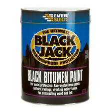 Everbuild 901 Black Jack BLACK BITUMEN PAINT For Gutters Iron Sheets Rails - 5L