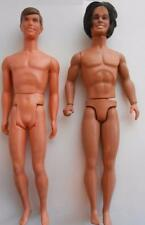 two vintage KEN 1970s LIVE ACTION doll & SPORT N' SHAVE with hair