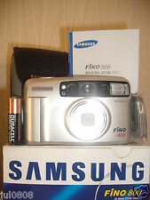 NEW BOXED SAMSUNG FINO 800 35MM FILM CAMERA~AUTO FOCUS~TIMER~38-80MM SHD LENS F6