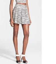 Alice Olivia Davis Pleat Flared Tweed Skirt  NWT Sz 6 $220