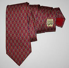 Rare HERMES Silk Red Intertwined Belts Tie