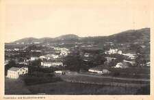 Flamengos Azores Portugal panoramic birds eye view of area antique pc Z20034