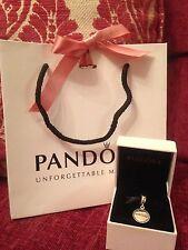 NEW Pandora Disney ParKs Exclusive RunDisney Silver Dangle Charm W. Box&Bag!