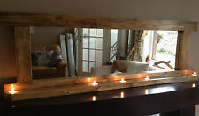 The 'BRITTANY'  mirror with shelf and tea lights