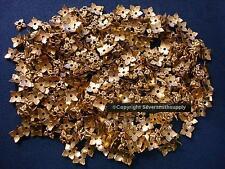 Bead caps 500 pcs antique gold plated 6-8mm filigree 4 leaf design caps fpb207