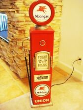 "42"" Pegasus Mobil Gas Pump Cabinet with light. Man Cave/Gameroom Decor."