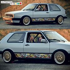 Side Sticker Bomb Decal Graphic Set for VW Golf Mk2 Mk3 GTI Tail Light Front TD