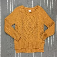 Wilfred Aritzia Sweater Size XS Cable Knit Wool Alpaca Blend Caramel Brown