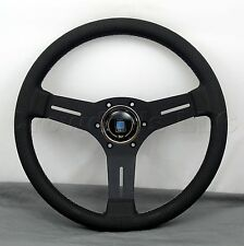 Nardi Competition Steering Wheel - 330mm - Black Leather / Black Classic Horn