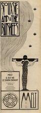 """27/11/82PGN33 SINGLE ADVERT 15X5"""" SIOUXSIE & THE BANSHEES : MELT IL EST NE LE DI"""