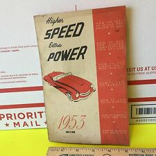 """""""Higher Speed and Extra Power"""" guide;  Speedway Books, 1953. Item:  2259"""