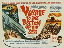 "Voyage to the bottom of the sea 16"" x 12"" Reproduction Movie Poster Photograph"