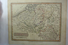 1816 Hand Tinted Map NETHERLANDS *Holland*Brabant*Luxemburg