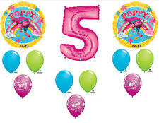 12pc 5th Birthday Trolls Poppy Balloons Party Decorations Supplies #5